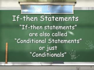 If-then Statements