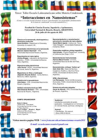 Tercer  Taller-Escuela Latinoamericano sobre Materia Condensada