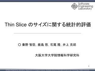 Thin Slice  のサイズに関する統計的評価
