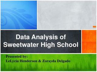 Data Analysis of Sweetwater High School