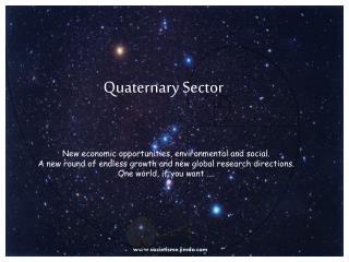 Quaternary Sector