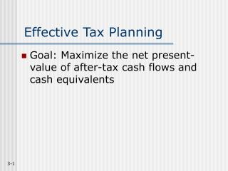 Effective Tax Planning