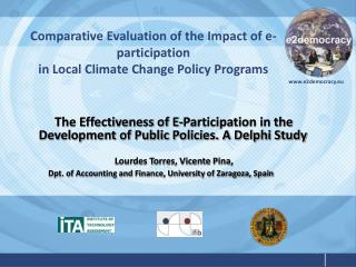 Comparative Evaluation of the Impact of e-participation in Local Climate Change Policy Programs