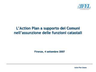 L'Action Plan a supporto dei Comuni nell'assunzione delle funzioni catastali