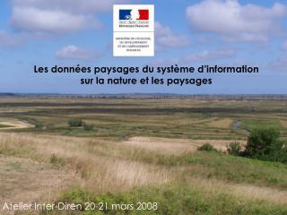 Les données paysages du système d'information sur la nature et les paysages