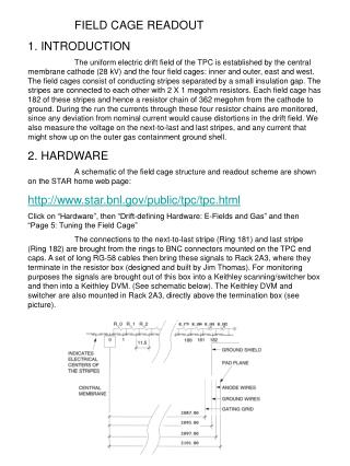 FIELD CAGE READOUT 1. INTRODUCTION