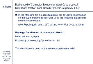 Background of Connector Scenario for Worst Case proposal Used Probability Density Function