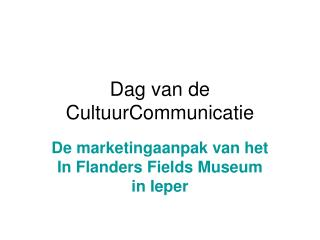 Dag van de CultuurCommunicatie