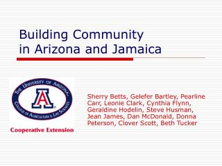 Building Community in Arizona and Jamaica