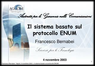 Il sistema basato sul protocollo ENUM