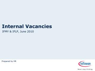 Internal Vacancies