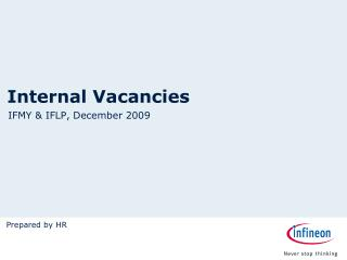 Internal Vacancies