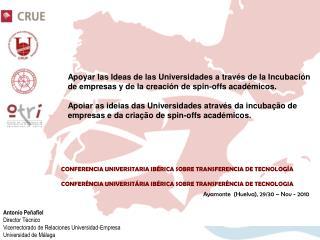 Apoyar las Ideas de las Universidades a través de la Incubación
