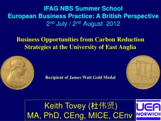 Business Opportunities from Carbon Reduction Strategies at the University of East Anglia