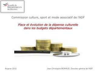 Avignon 2012 Jean Christophe MORAUD, Directeur général de l'ADF