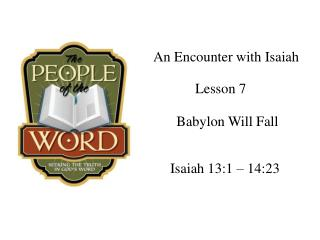 An Encounter with Isaiah