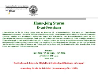 Institut für Kommunikationswissenschaft  Jena