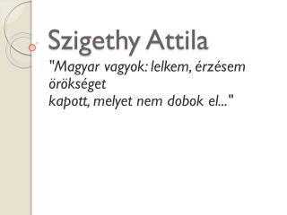 Szigethy Attila