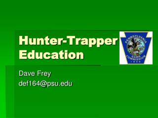 Hunter-Trapper Education