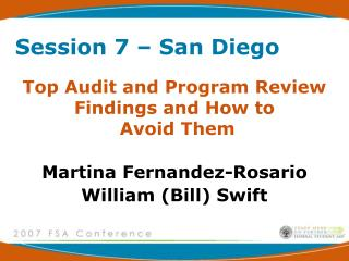 Top Audit and Program Review Findings and How to  Avoid Them