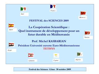 Festival des Sciences  Gênes  30 octobre 2009