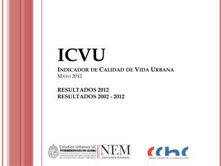 ICVU Indicador de Calidad de Vida Urbana Mayo 2012 RESULTADOS 2012 RESULTADOS 2002 - 2012