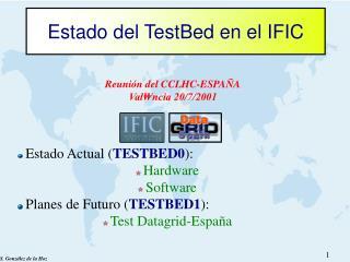 Estado del TestBed en el IFIC