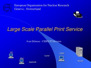 Large Scale Parallel Print Service