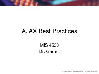 AJAX Best Practices