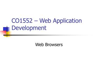 CO1552 – Web Application Development