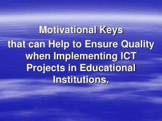 Motivational Keys