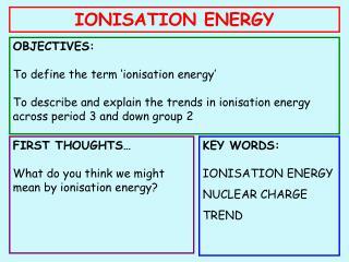 IONISATION ENERGY