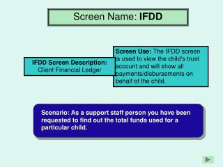 Screen Name:  IFDD