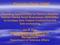 Executive Order 13360   Providing Opportunities for Service-Disabled Veteran Owned Small Businesses SDVOSBs to Increase