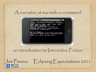 Joe Pereira      Eclipsing Expectations 2011