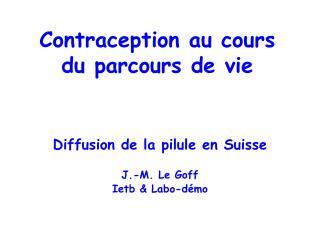 Contraception au cours du parcours de vie