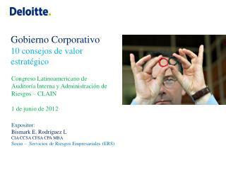 Congreso  Latinoamericano  de Auditoría Interna  y Administración de  Riesgos  – CLAIN