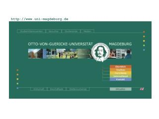 OvGU-web-Sites mittels EGOCMS