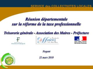 Suppression de la taxe professionnelle et Réforme de la fiscalité directe locale