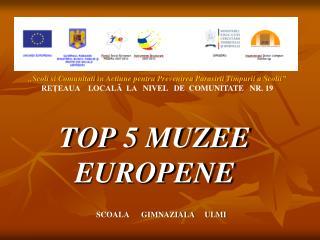 TOP 5 MUZEE EUROPENE