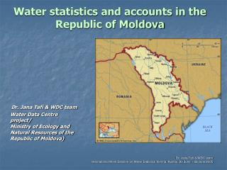 Water statistics and accounts in the Republic of Moldova