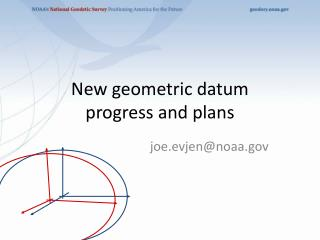 New geometric datum progress and plans