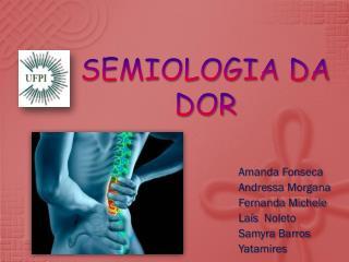 SEMIOLOGIA DA  DOR