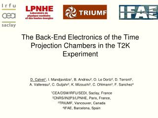 The Back-End Electronics of the Time Projection Chambers in the T2K Experiment