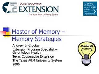 Master of Memory –  Memory Strategies