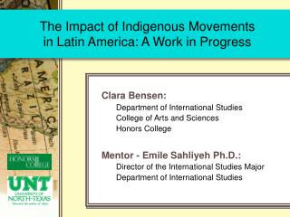 The Impact of Indigenous Movements  in Latin America: A Work in Progress