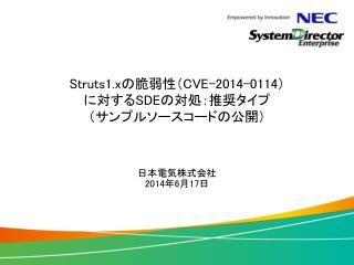 Struts1.x の脆弱性( CVE-2014-0114 ) に対する SDE の対処:推奨タイプ (サンプルソースコードの公開)