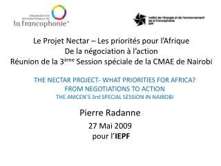 Pierre Radanne 27 Mai 2009  pour l' IEPF