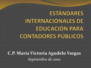 ESTÁNDARES INTERNACIONALES DE EDUCACIÓN PARA CONTADORES PÚBLICOS