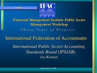 Financial Management Institute Public Sector Management Workshop